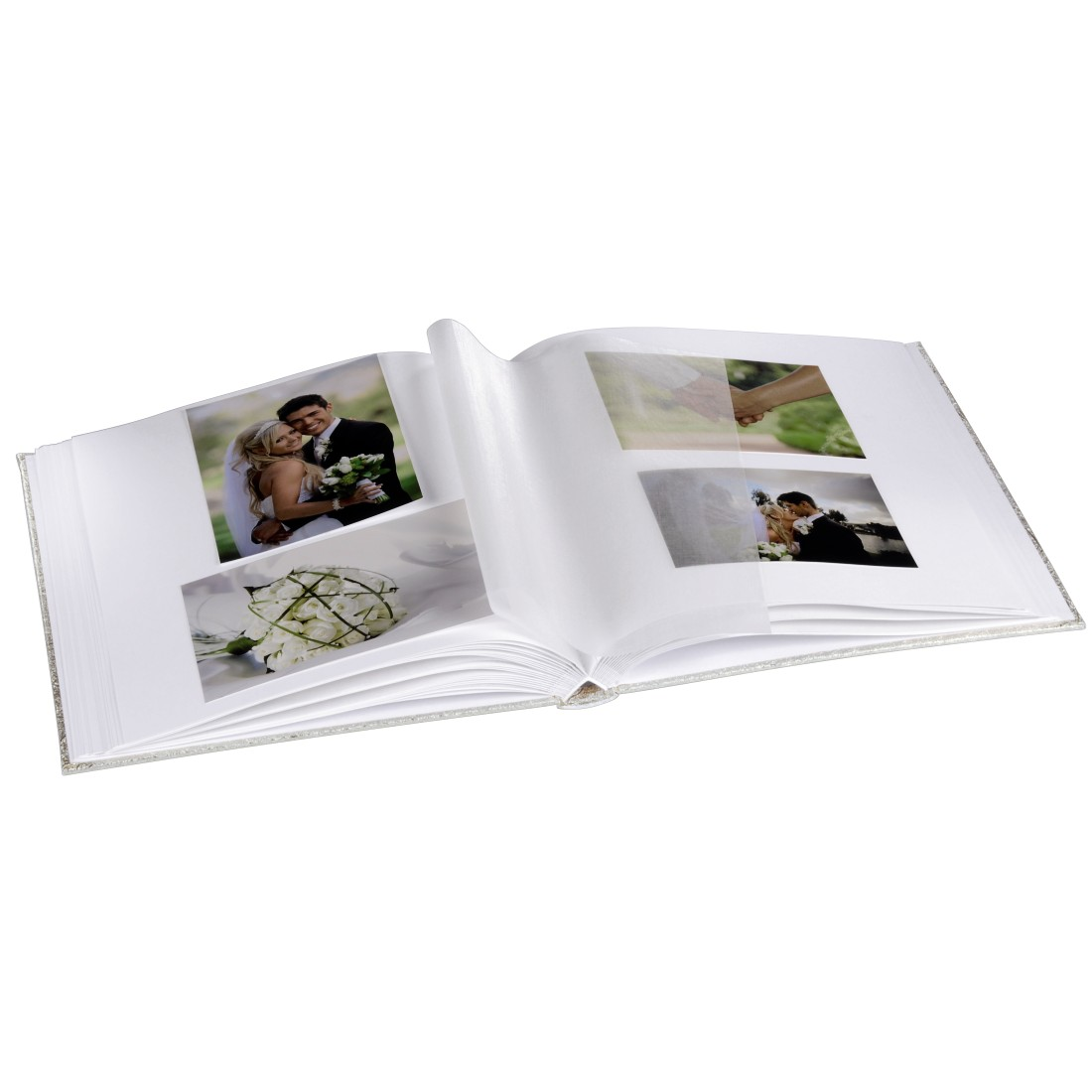 "awx High-Res Appliance - Hama, ""Caracas"" Bookbound Album, 29x32 cm, 50 white pages, silver"