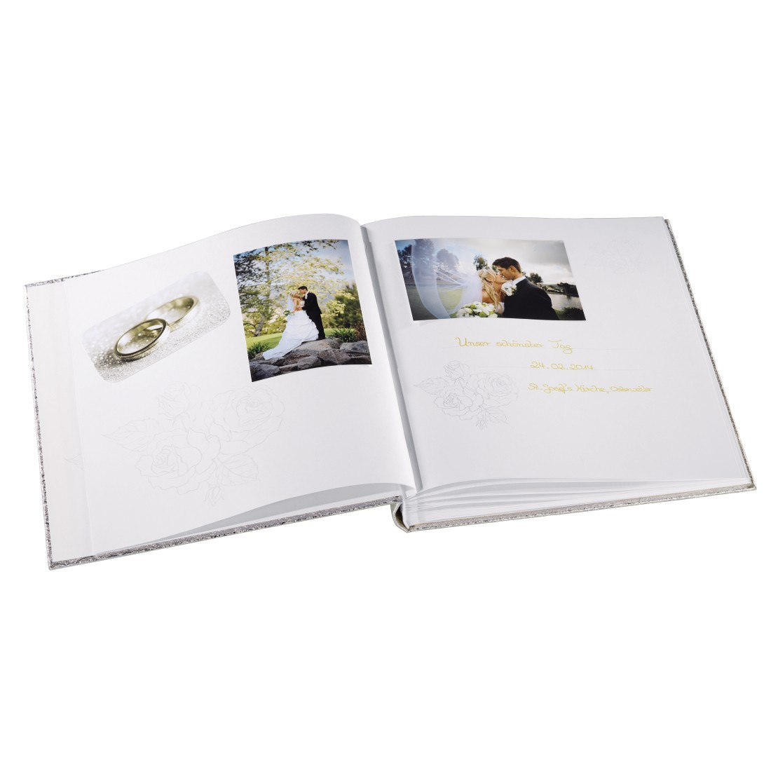 "awx2 High-Res Appliance 2 - Hama, ""Caracas"" Bookbound Album, 29x32 cm, 50 white pages, silver"