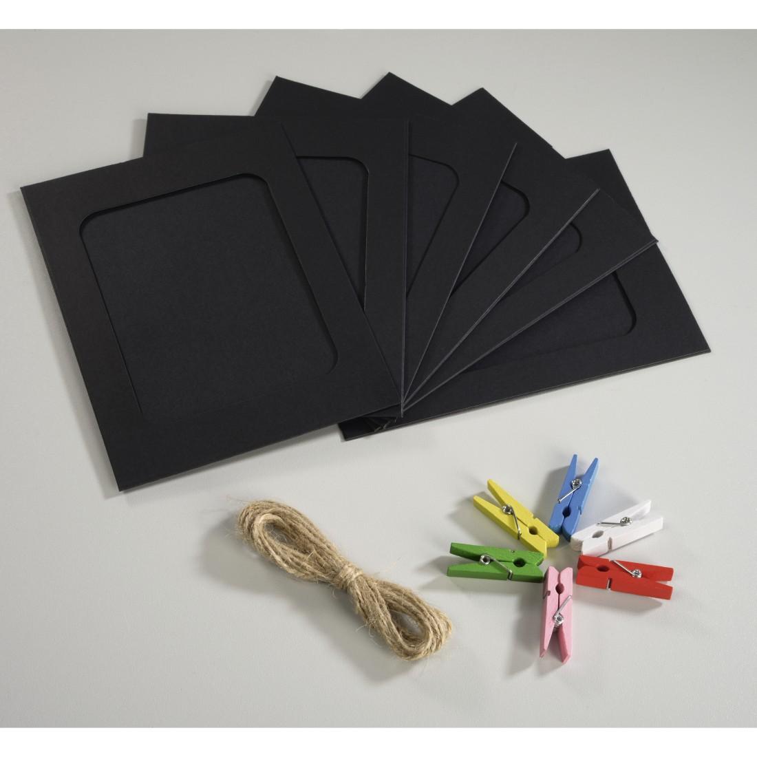 hama.de | 00001854 Hama Papierrahmen-Set mit Klammern und Schnur ...