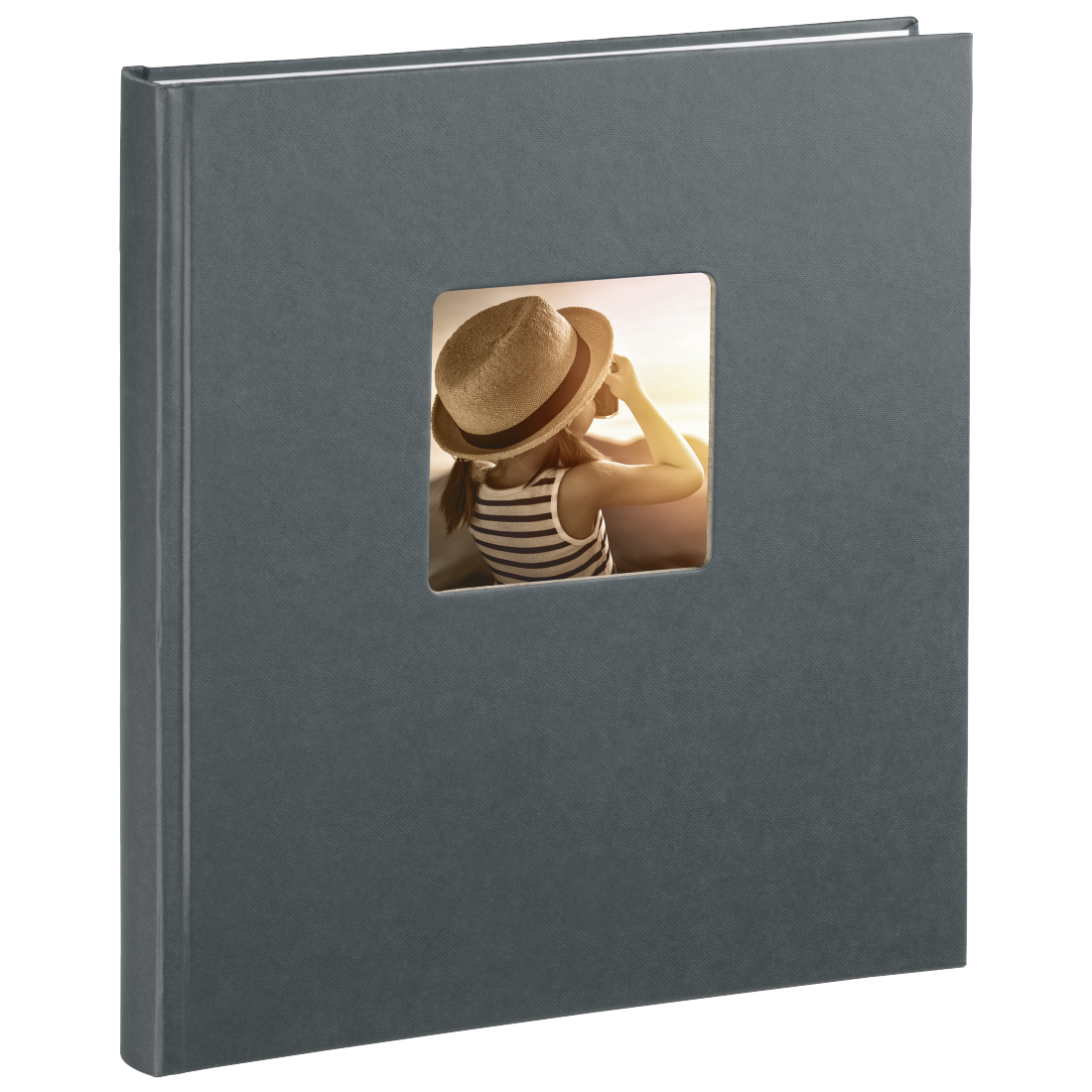 "abx2 High-Res Image 2 - Hama, ""Fine Art"" Bookbound Album, 29 x 32 cm, 50 white pages, grey"