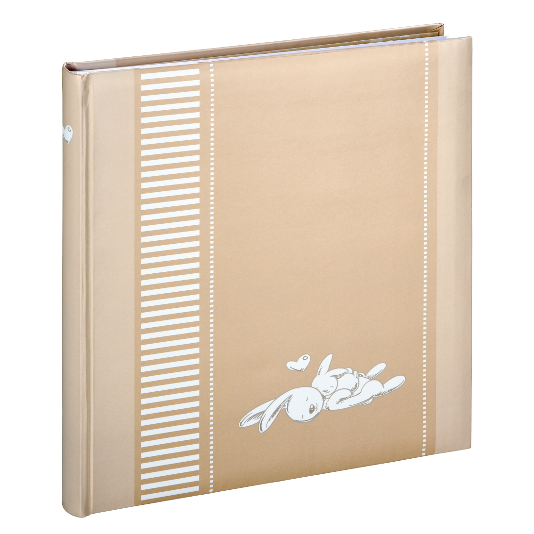 "abx High-Res Image - Hama, ""Lasse"" Bookbound Album, 29x32 cm, 50 white pages, beige"