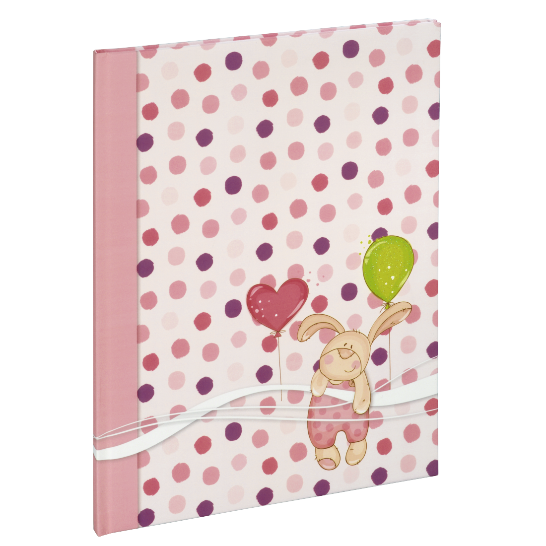 "abx High-Res Image - Hama, ""Small Bunny"" Baby Diary, 20 x 28 cm, 44 Illustrated Pages, pink"