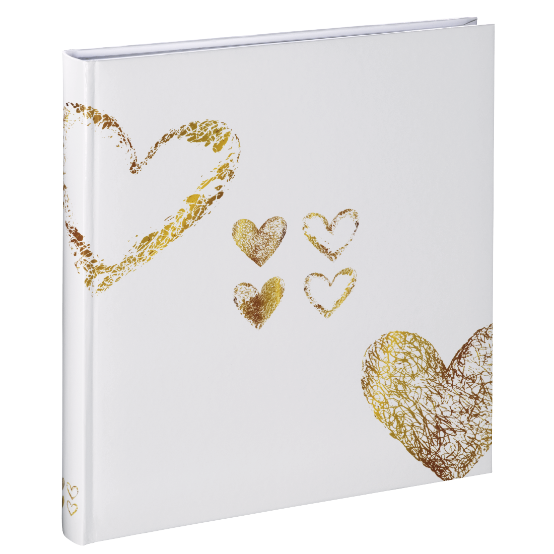 "abx High-Res Image - Hama, ""Lazise"" bookbound album, 29 x 32 cm, 50 white pages, gold"