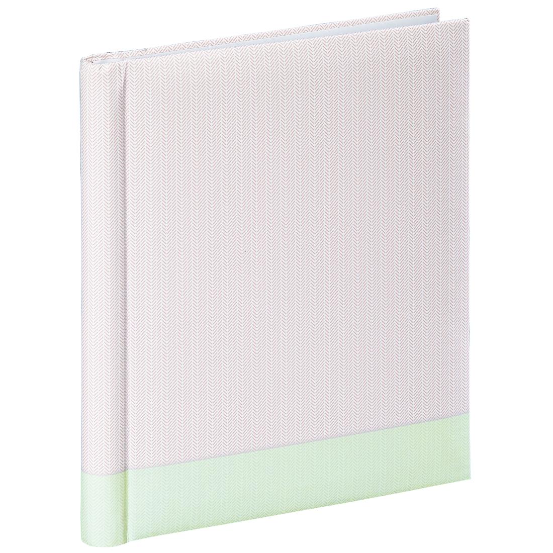 20 weiße Seiten 24x29 cm Selbstklebe-Album Filigrana Mintgrün