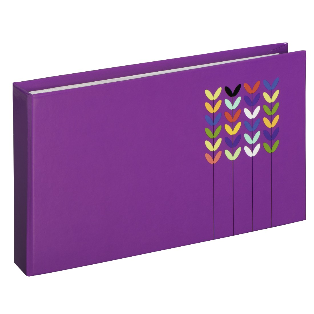 "abx High-Res Image - Hama, ""Blossom"" Mini Slip-in Album for 24 photos with a size of 10x15 cm, purple"