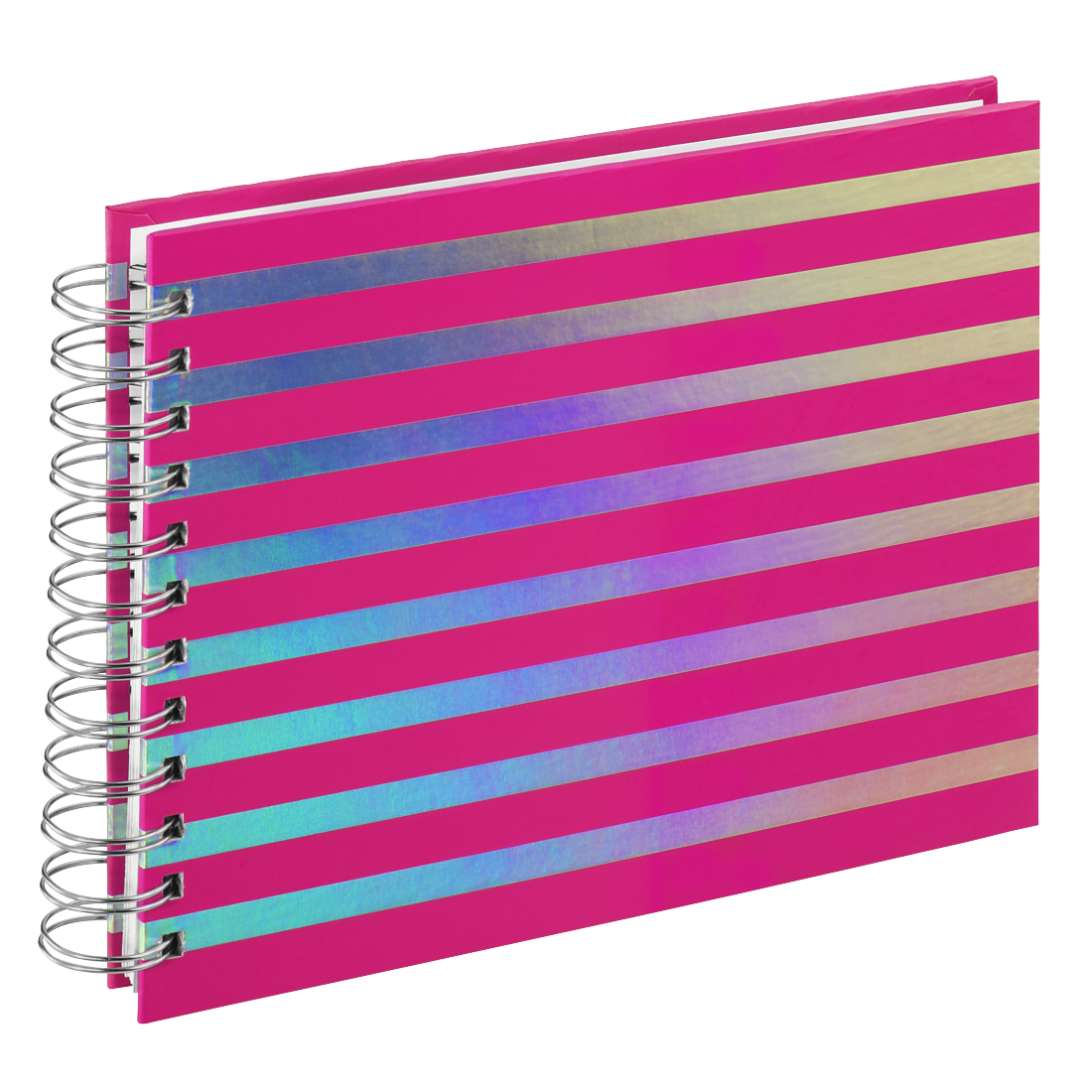 "abx High-Res Image - Hama, ""Flashy"" Spiral Album, 24x17 cm, 50 white pages, pink"
