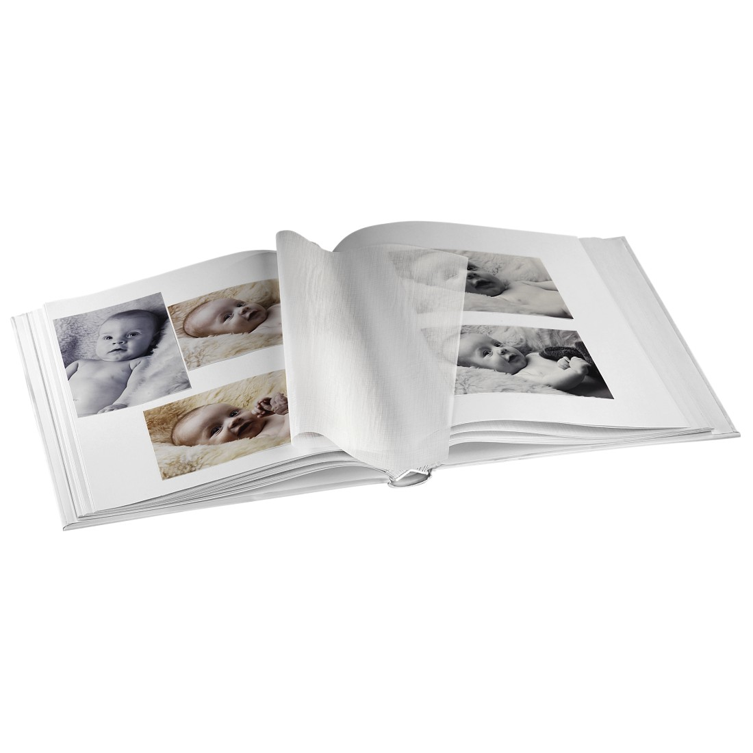 "awx High-Res Appliance - Hama, ""Lasse"" Bookbound Album, 29x32 cm, 50 white pages, beige"