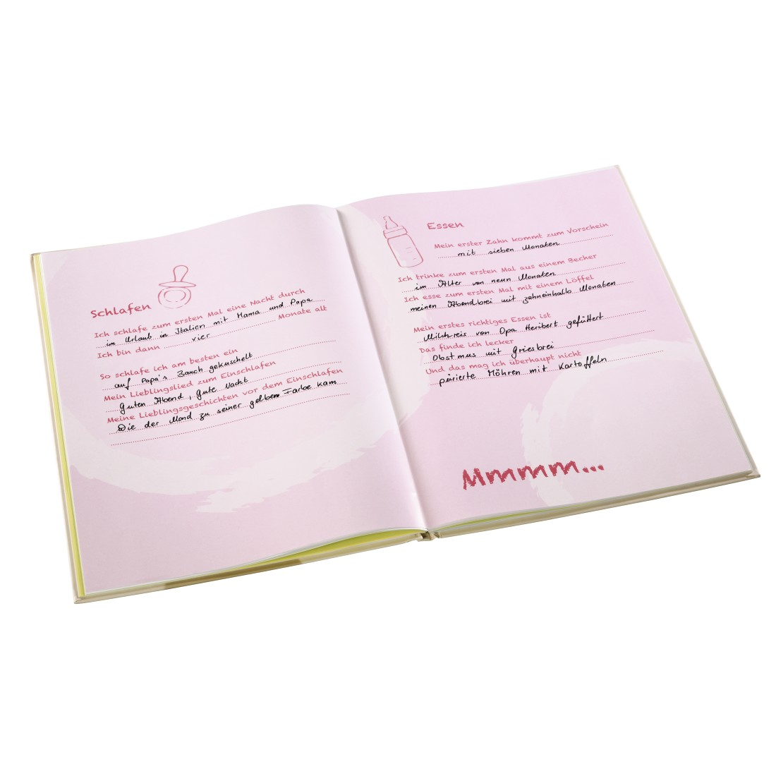 "awx High-Res Appliance - Hama, ""Small Bunny"" Baby Diary, 20 x 28 cm, 44 Illustrated Pages, pink"