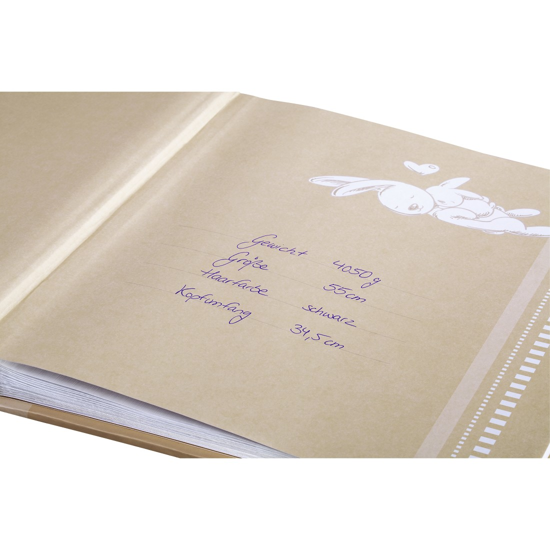 "dex2 High-Res Detail 2 - Hama, ""Lasse"" Bookbound Album, 29x32 cm, 50 white pages, beige"
