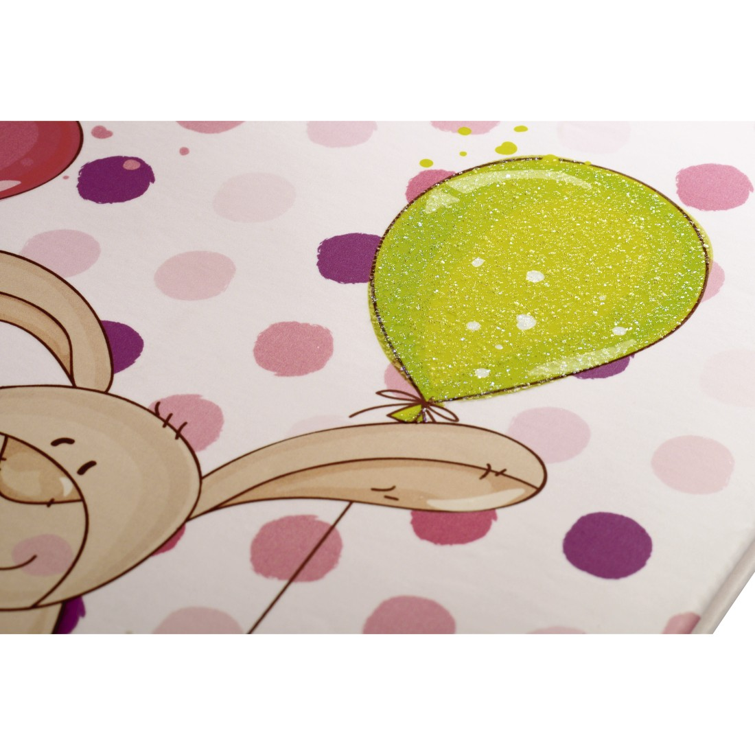 "dex High-Res Detail - Hama, ""Small Bunny"" Baby Diary, 20 x 28 cm, 44 Illustrated Pages, pink"