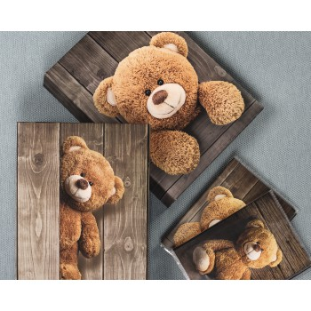 "fam Product Family - Hama, ""Batzi"" Memo Album for 200 photos with a size of 10x15 cm, standing teddy"