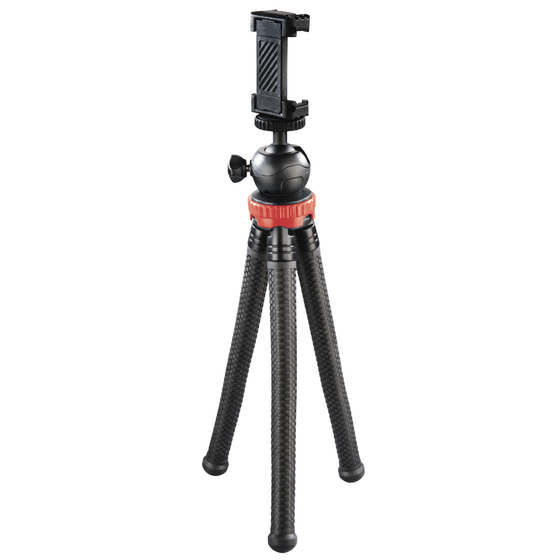 abx High-Res Image - Hama, FlexPro Tripod for Smartphone, GoPro and Photo Cameras, 27 cm, red