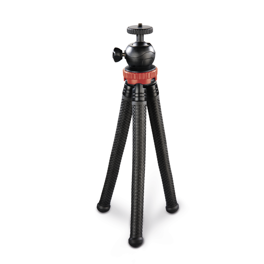 abx2 High-Res Image 2 - Hama, FlexPro Tripod for Smartphone, GoPro and Photo Cameras, 27 cm, red