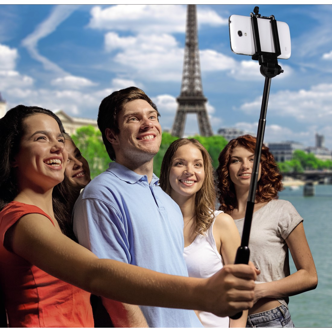 "awx6 High-Res Appliance 6 - Hama, ""Moments 100"" Selfie Stick, black"