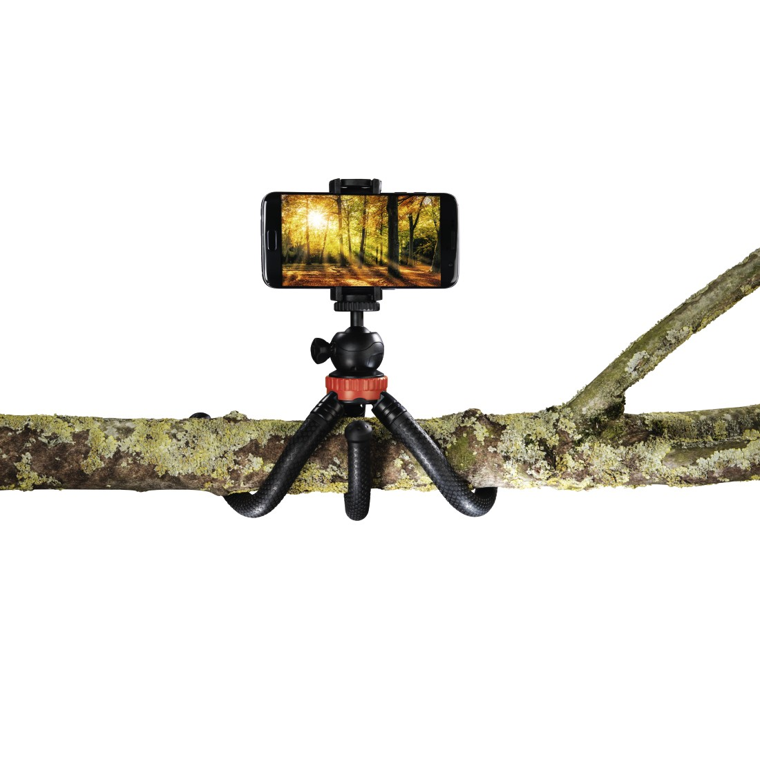 awx High-Res Appliance - Hama, FlexPro Tripod for Smartphone, GoPro and Photo Cameras, 27 cm, red