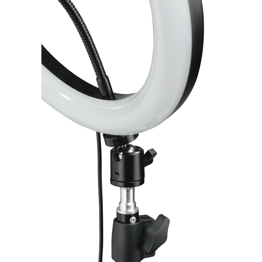 "dex3 High-Res Detail 3 - Hama, ""SpotLight Steady 120"" LED Ring Light, Set for Smartphone, Tripod, 12"""
