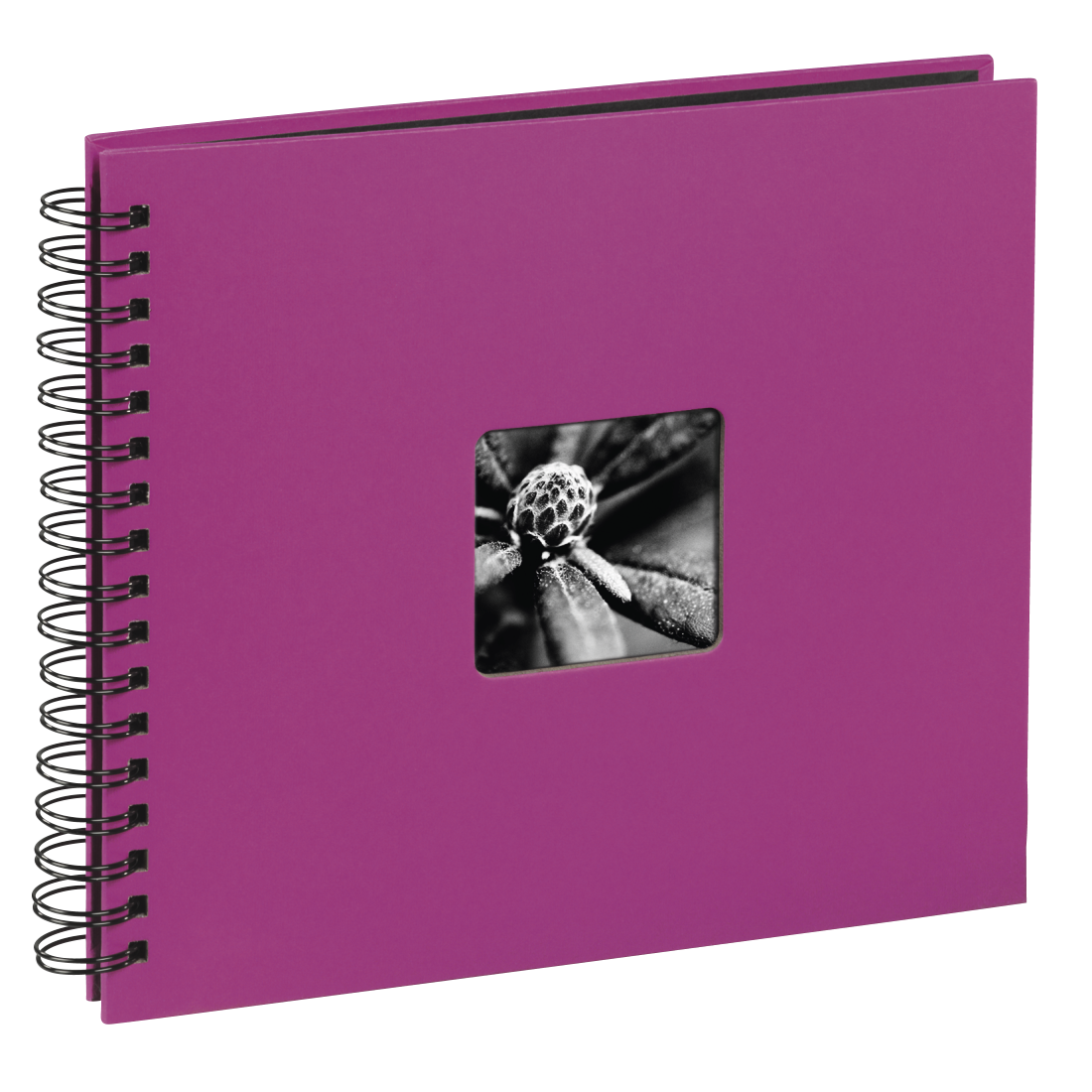 "abx High-Res Image - Hama, ""Fine Art"" Spiral Album, 36 x 32 cm, 50 Black Pages, pink"