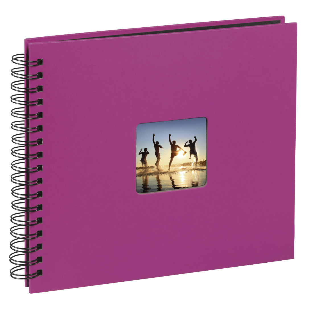 "abx3 High-Res Image 3 - Hama, ""Fine Art"" Spiral Album, 36 x 32 cm, 50 Black Pages, pink"