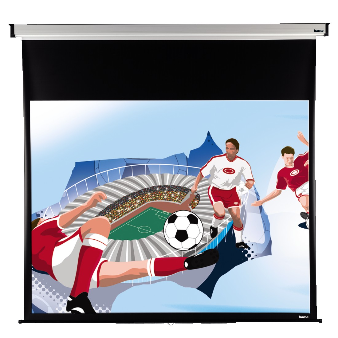 abx2 High-Res Image 2 - Hama, Roller Projection Screen, 240 x 195 cm, 4:3