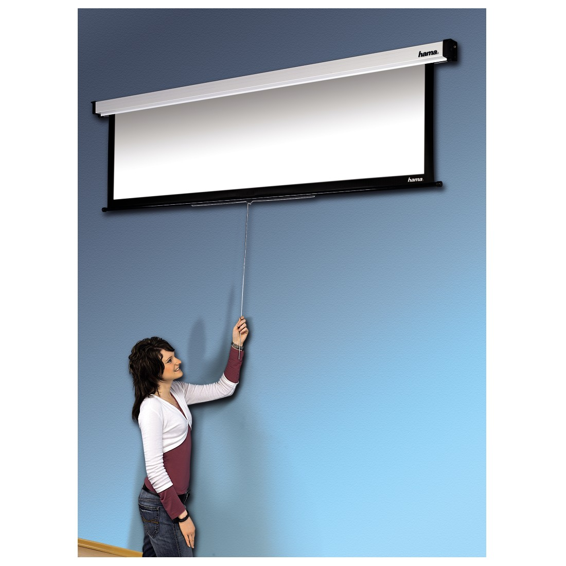 awx High-Res Appliance - Hama, Roller Projection Screen, 180 x 160 cm, 4:3
