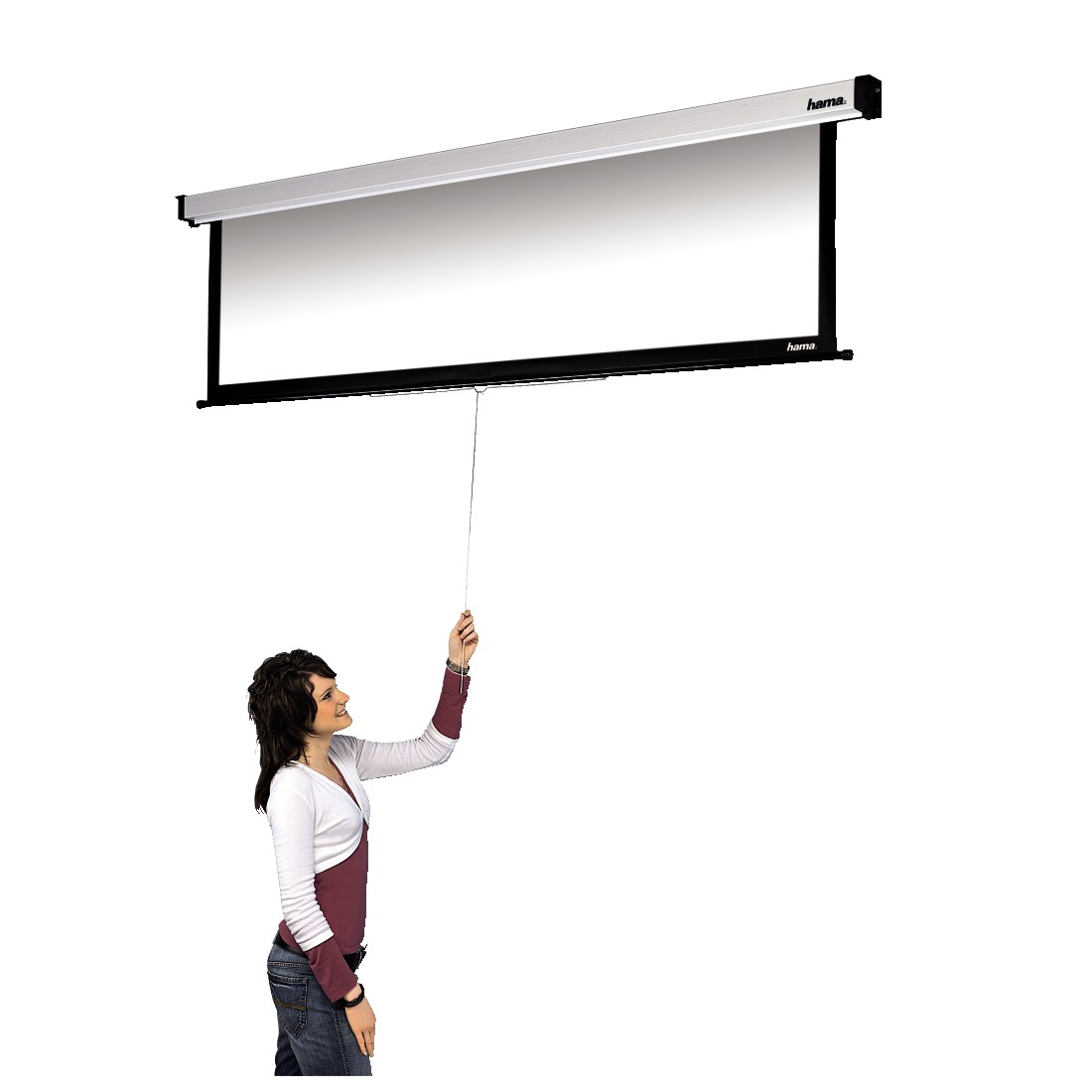 awx2 High-Res Appliance 2 - Hama, Roller Projection Screen, 180 x 160 cm, 4:3