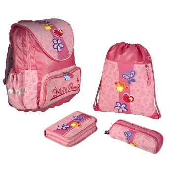 Рюкзак школьный Hama Girls Power с наполнением 24437.