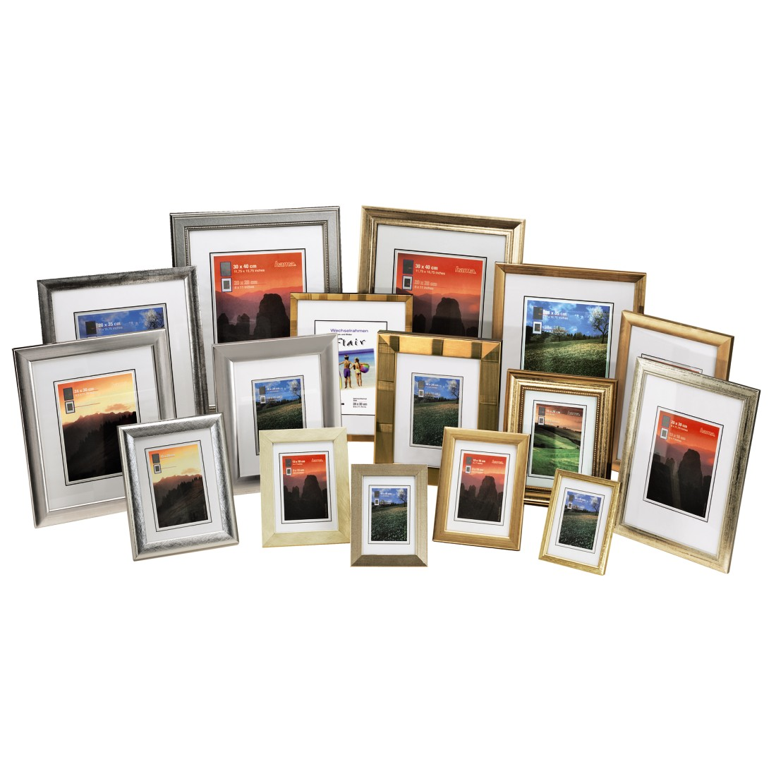 00031129 Hama Turin Wooden Frame Goldensilver 20 X 30 Cm Ip