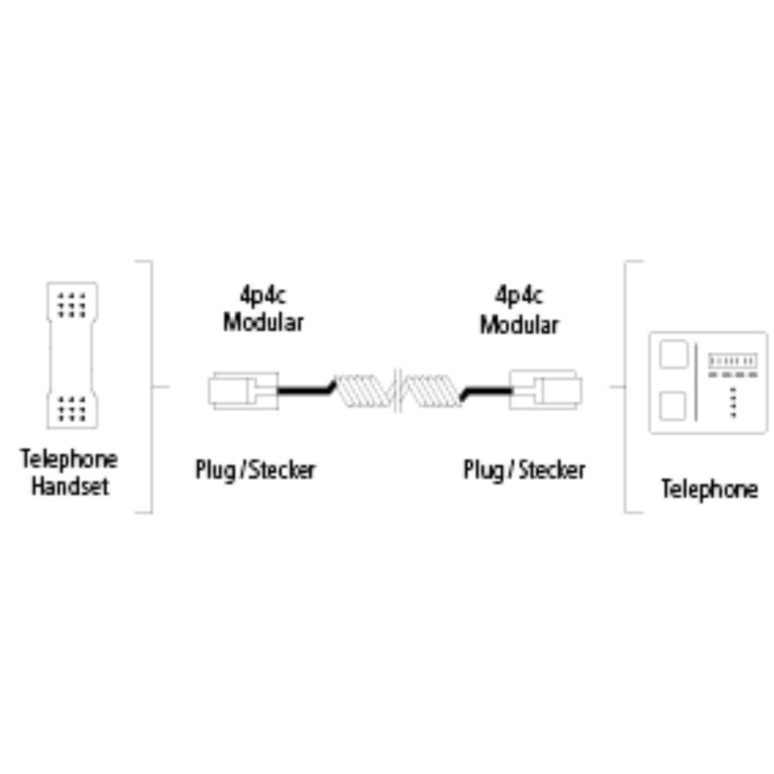 00044864 Hama Handset Cord 4p4c Modular Plug 3 Connector Wiring Diagram Stx High Res Line Drawing
