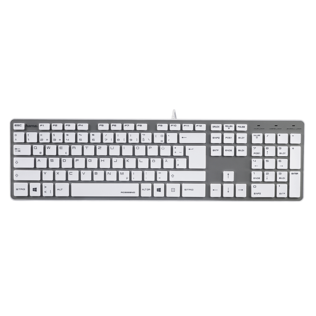 "abx2 High-Res Image 2 - Hama, ""Rossano"" Keyboard, white/silver"