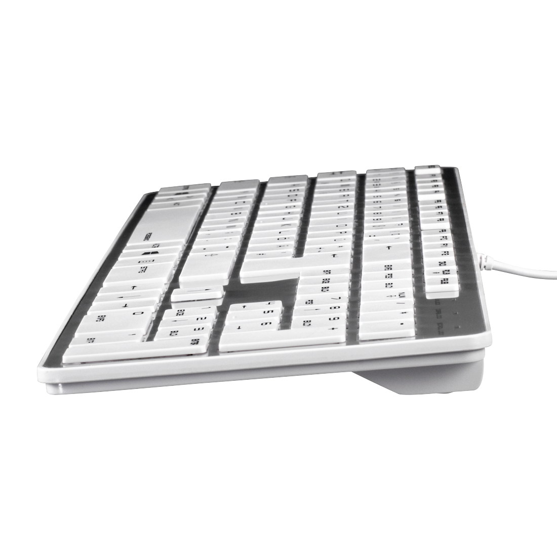 "abx3 High-Res Image 3 - Hama, ""Rossano"" Keyboard, white/silver"