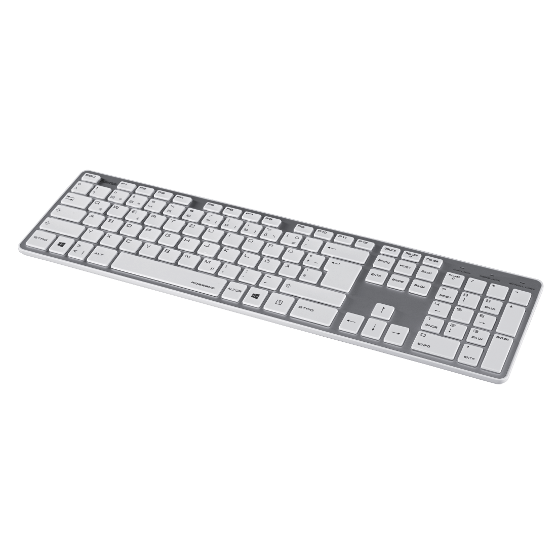 "abx6 High-Res Image 6 - Hama, ""Rossano"" Keyboard, white/silver"