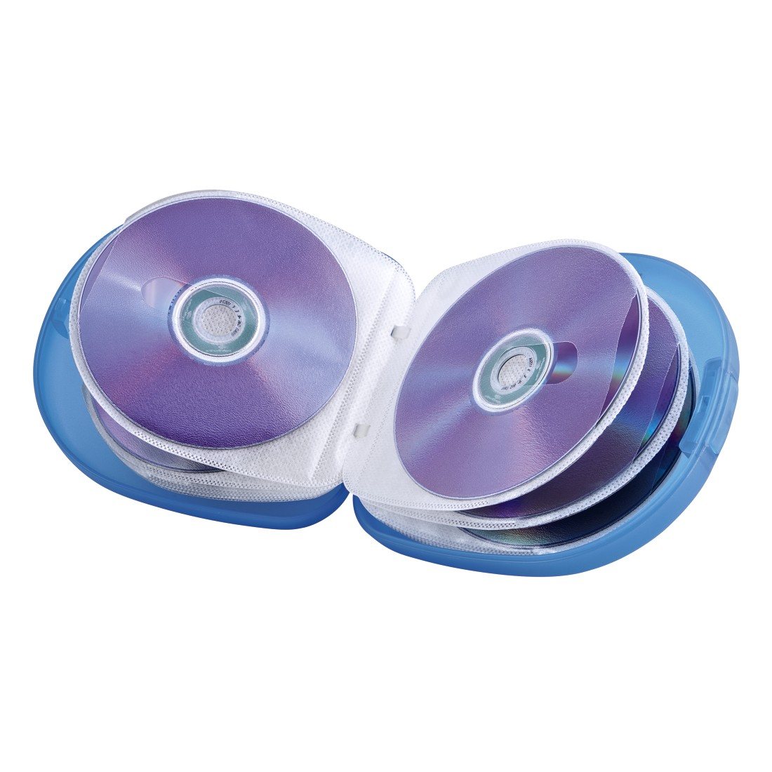 00051334 Hama CD-/DVD-/Blu-ray-Case 24, Transparent/Blau | Hama DE