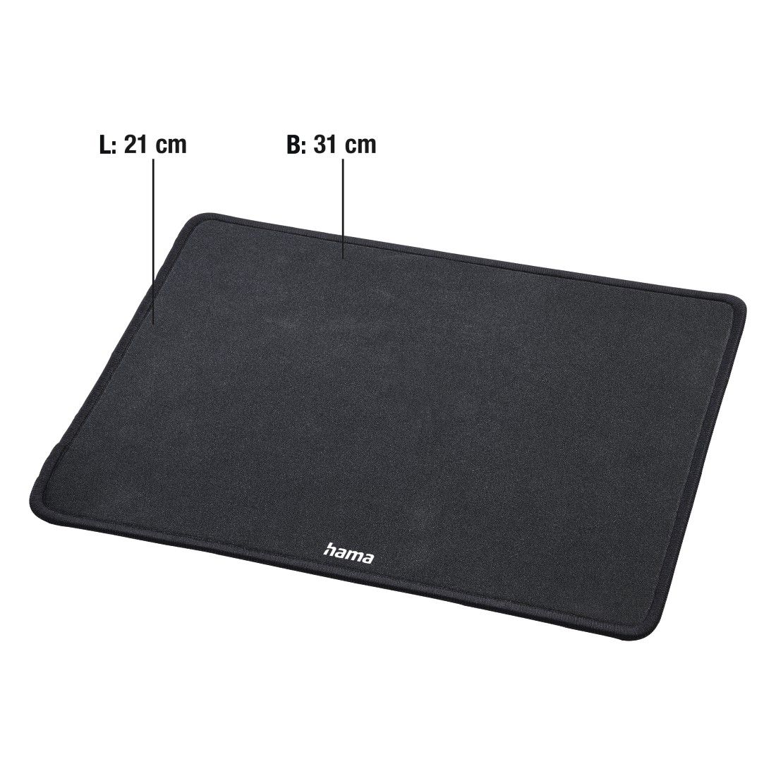 "abx4 High-Res Image4 - Hama, ""Comfort"" Mouse Pad, black"