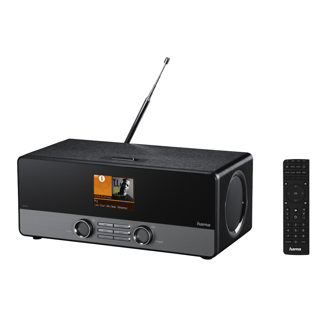 abx5 High-Res Image 5 - Hama, DIR3100MS Digital Radio, Internet Radio/DAB+/FM/Multi-Room/ App Control