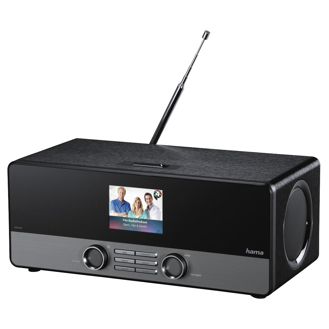 abx8 High-Res Image 8 - Hama, DIR3100MS Digital Radio, Internet Radio/DAB+/FM/Multi-Room/ App Control