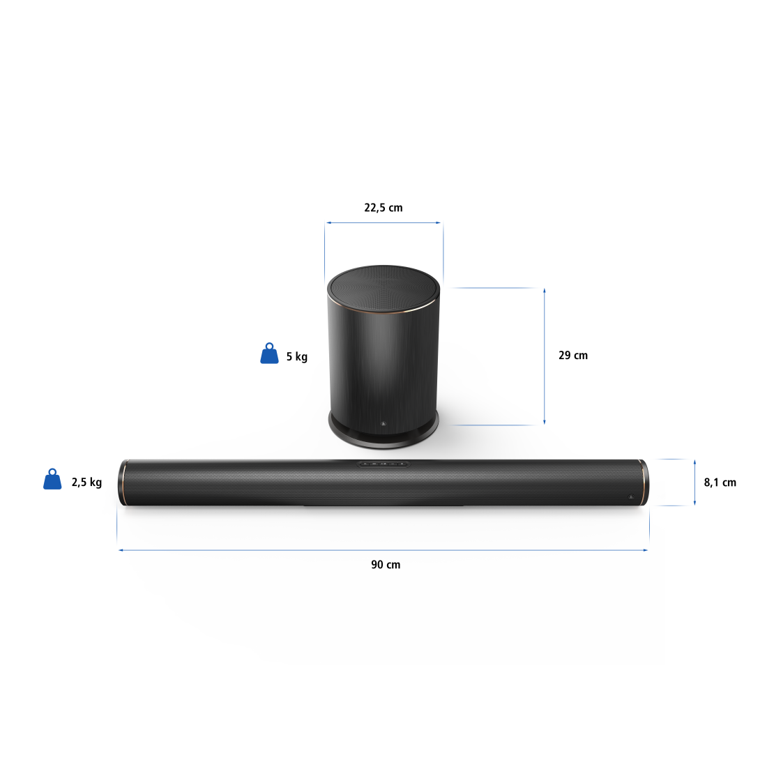 abx8 Druckfähige Abbildung 8 - Hama, Smart-TV-Soundbar 2.1 SIRIUM4000ABT, Wireless Subwoofer/Alexa/Bluetooth