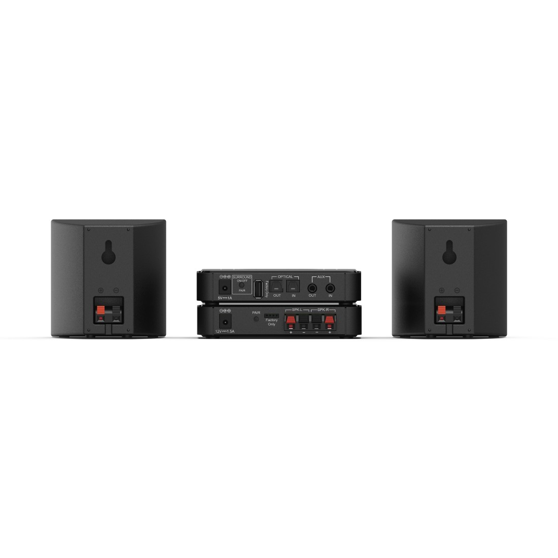 "dex High-Res Detail - Hama, ""RS100"" Audio Extension Set, REAR Surround, black"