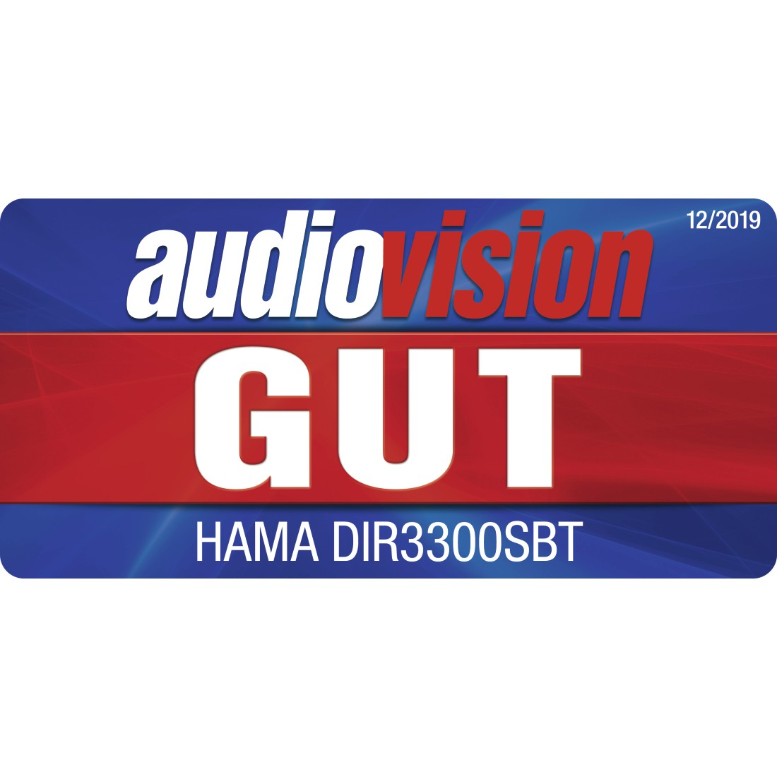 "tex Druckfähiges Testurteil - Hama, ""DIR3300SBT"" Digital Radio, FM/DAB/DAB+/Internet Radio/App/Bluetooth® white"