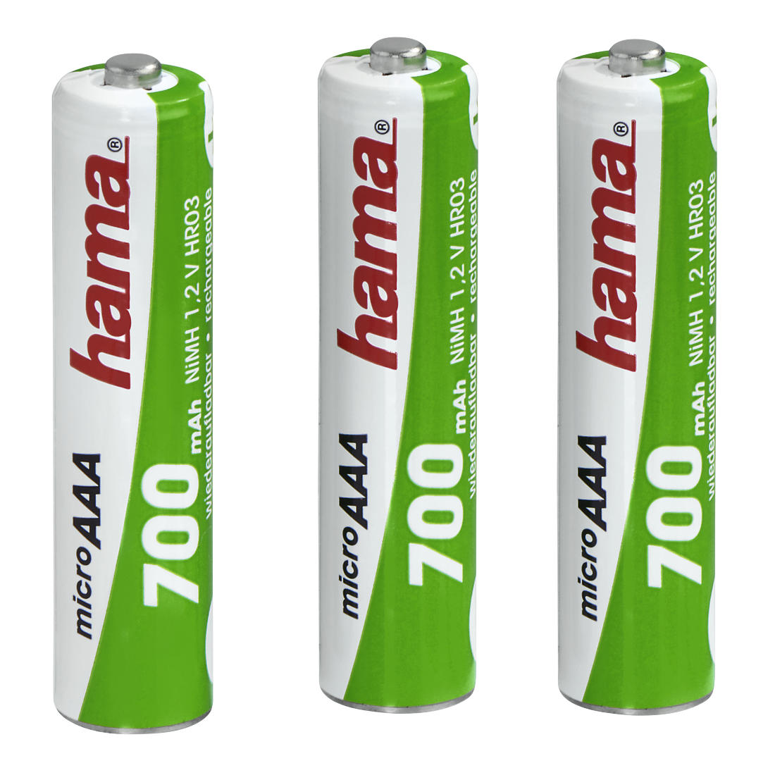 abx High-Res Image - Hama, NiMH Batteries, 3x AAA, 700 mAh, 1.2V