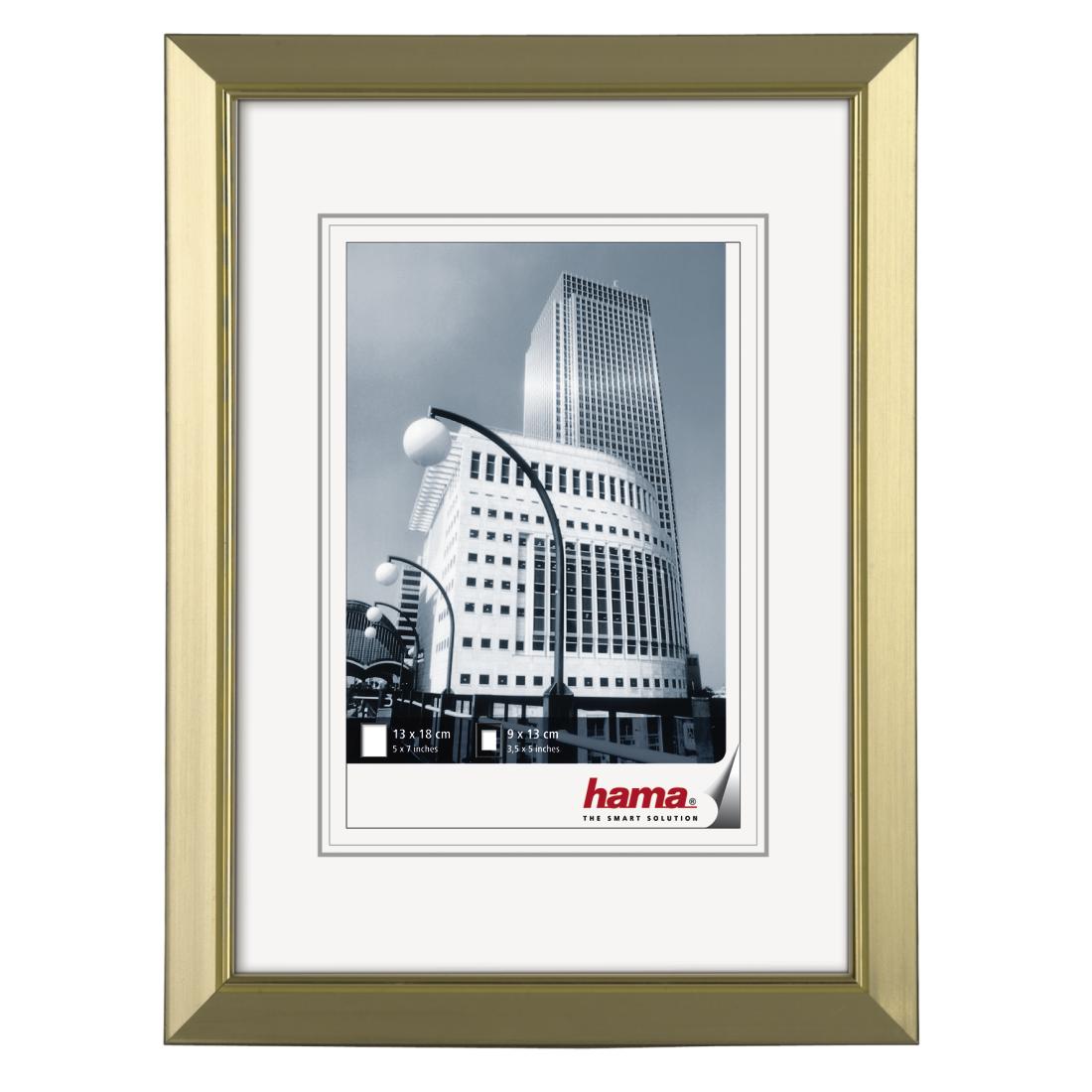 00058873 Hama Valencia Plastic Frame Gold 13 X 18 Cm Hama De
