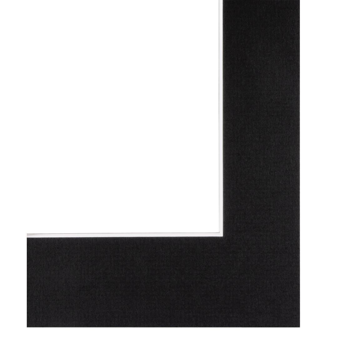 hama.de | 00063247 Hama Premium-Passepartout, Schwarz, 40 x 50 cm ...