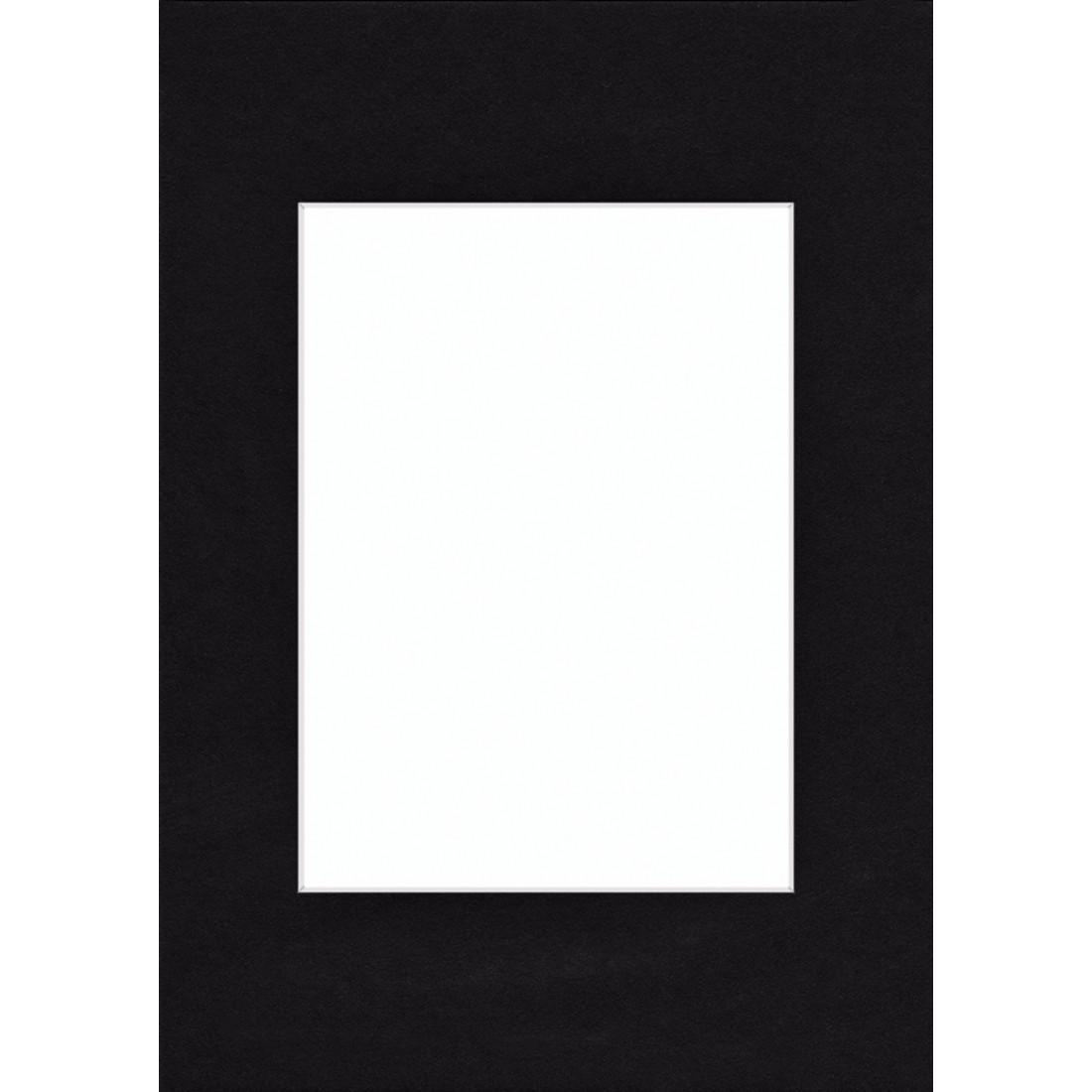Schrägschnitt-Passepartout schneeweiß 40x50 cm