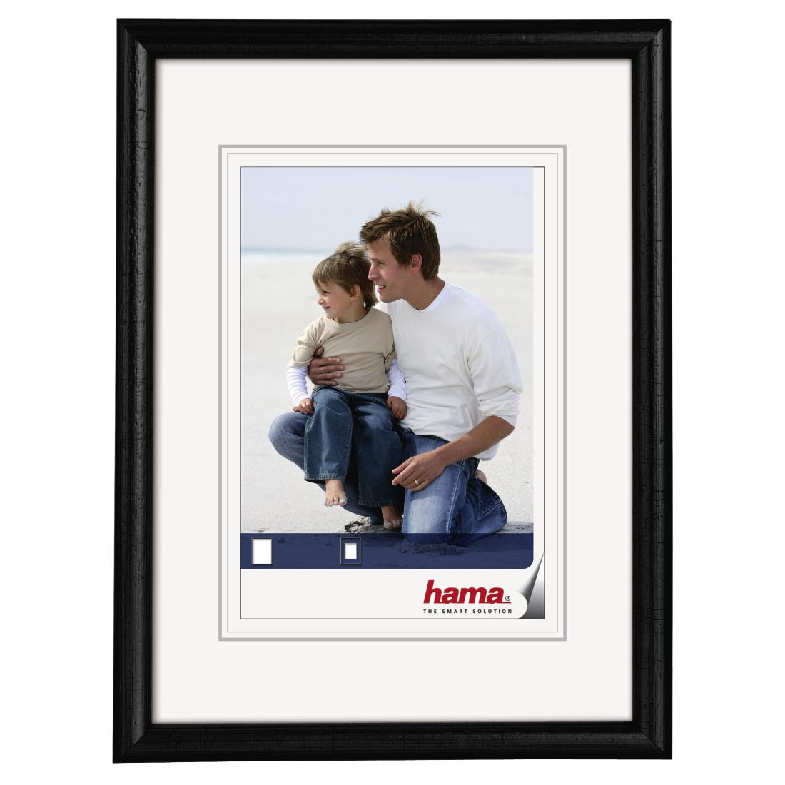 00064643 Hama Wooden Frame Oregon Black 9 X 13 Cm Hama De