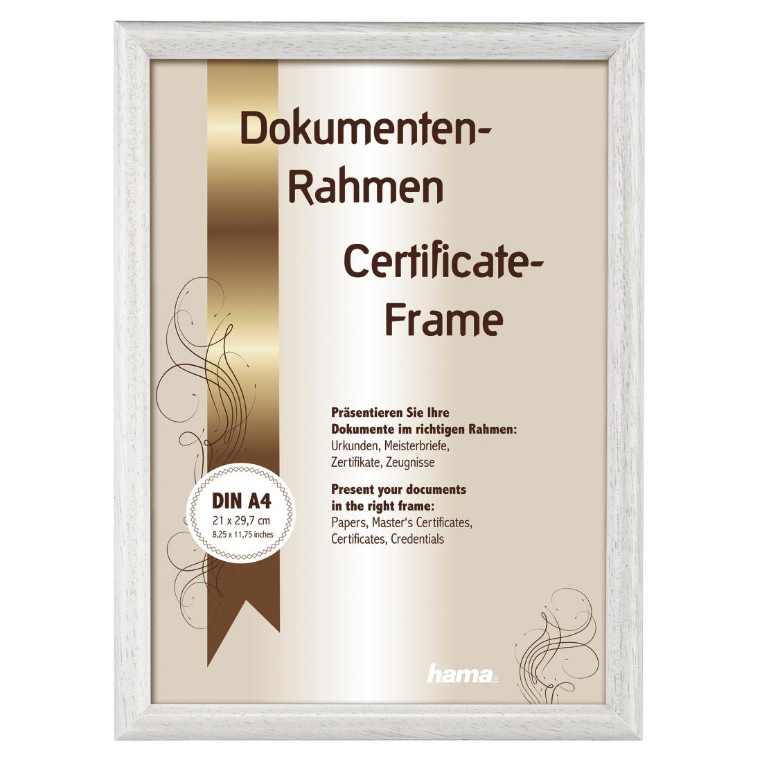 00064682 Hama Oregon Wooden Frame White 21 X 297 Cm Din A4