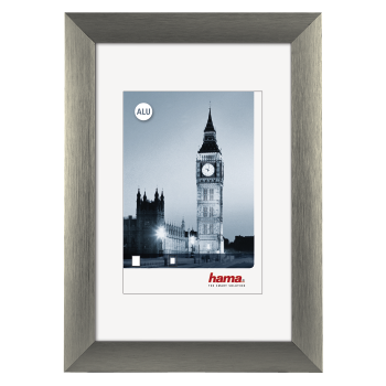 Silver 40 x 50 cm Aluminium London Photo Frame Hama