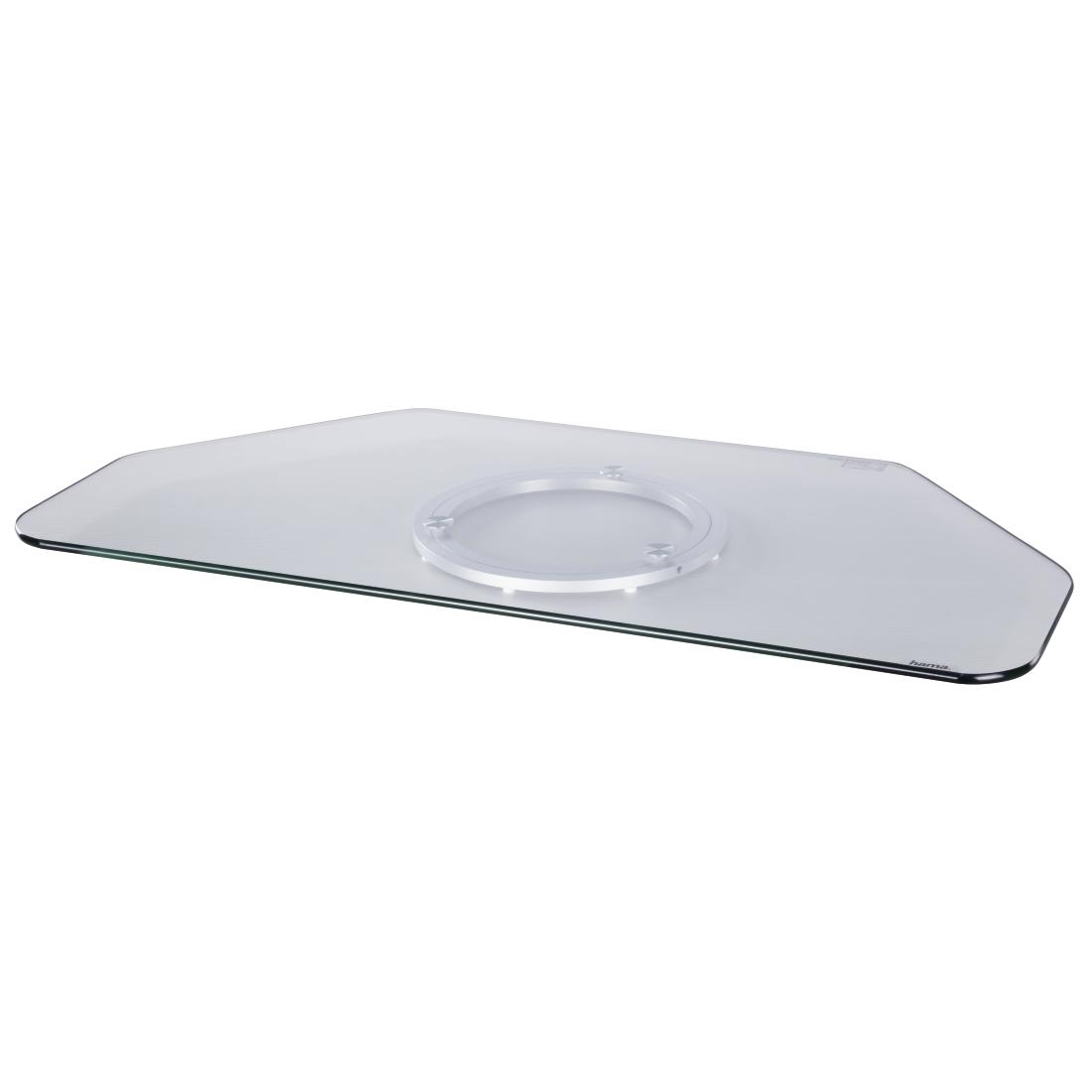 00084028 hama tv drehteller glas klar hama de. Black Bedroom Furniture Sets. Home Design Ideas