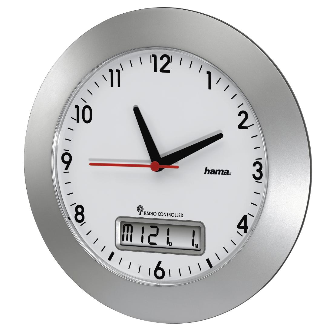 "00092636 Hama ""RCW500"" Radio-Controlled DCF Wall Clock ..."