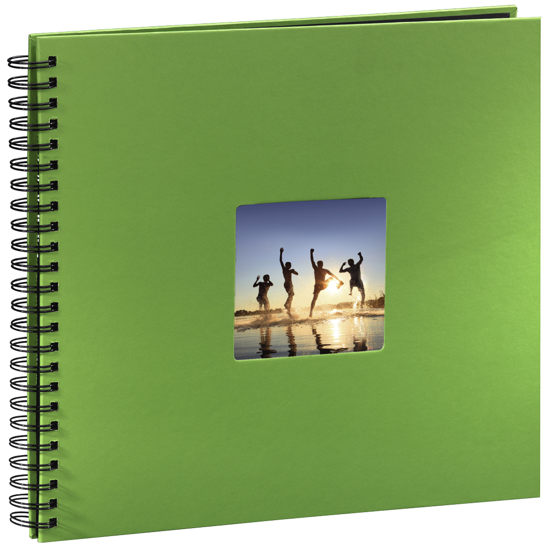 "abx3 High-Res Image 3 - Hama, ""Fine Art"" Spiral Album, 36 x 32 cm, 50 Black Pages, apple green"