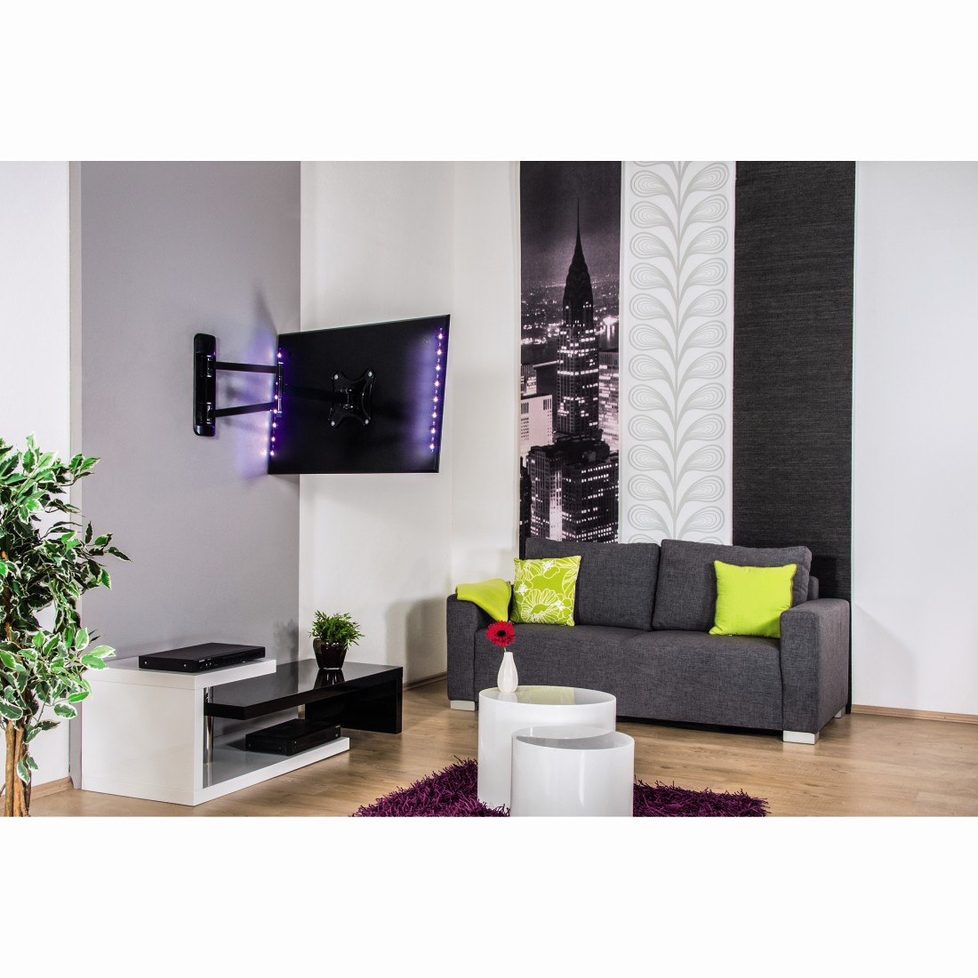 awx7 Druckfähige Anwendung 7 - Hama, LED-Band TV-Relax mit USB-Anschluss, RGB, 2x 50 cm