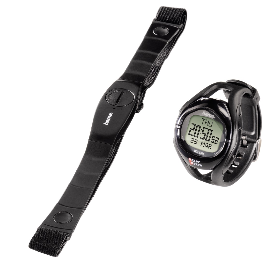 abx High-Res Image - Hama, HRM-108 Heart Rate Monitor, black